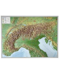 3D Reliefkarte Alpen