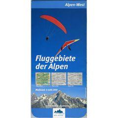Fluggebiete der Alpen West